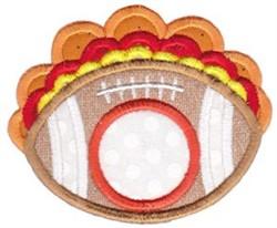 Football Monogram embroidery design