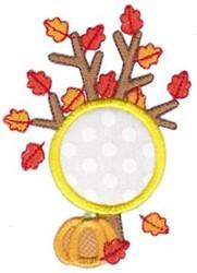 Fall Tree Monogram embroidery design