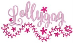 Lollygag embroidery design