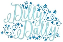 Dilly Dally embroidery design