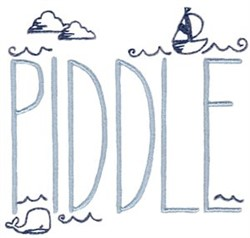 Piddle embroidery design