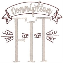 Conniption Fit embroidery design