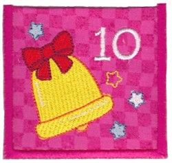 Advent Calendar 10 embroidery design
