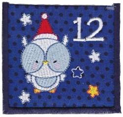 Advent Calendar 12 embroidery design