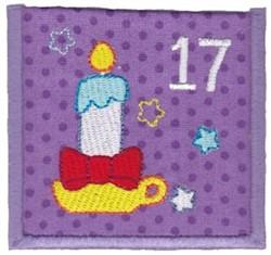 Advent Calendar 17 embroidery design