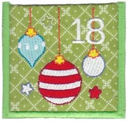 Advent Calendar 18 embroidery design