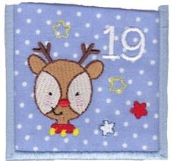 Advent Calendar 19 embroidery design
