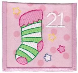 Advent Calendar 21 embroidery design