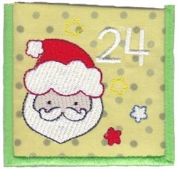 Advent Calendar 24 embroidery design