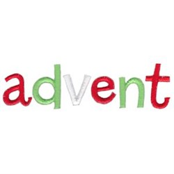 Advent embroidery design