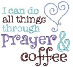 Prayer & Coffee embroidery design