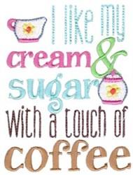 Cream & Sugar embroidery design