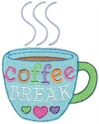 Coffee Break embroidery design