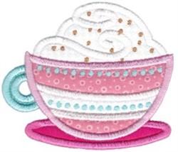 Coffee Break Applique embroidery design