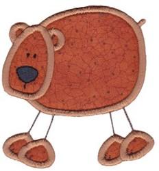 Wild Stix Bear Applique embroidery design