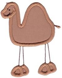 Wild Stix Camel Applique embroidery design