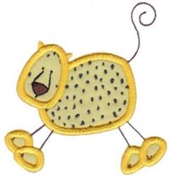 Wild Stix Leopard Applique embroidery design