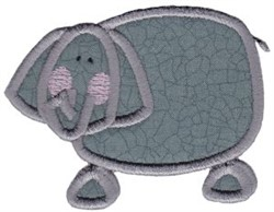 Wild Stix Elephant Applique embroidery design