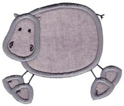 Wild Stix Hippo Applique embroidery design