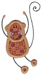 Wild Stix Monkey Applique embroidery design