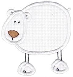 Wild Stix Polar Bear Applique embroidery design