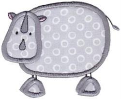 Wild Stix Rhino Applique embroidery design