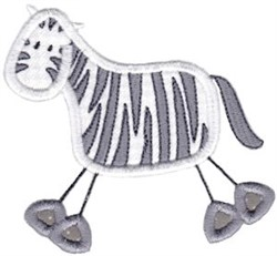 Wild Stix Zebra Applique embroidery design