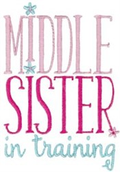 Middle Sister In Training embroidery design