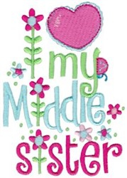 My Middle Sister embroidery design