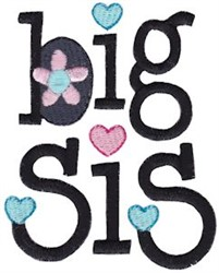 Big Sis embroidery design