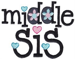 Middle Sis embroidery design