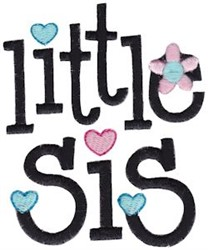 Little Sis embroidery design