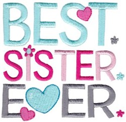 Best Sister Ever embroidery design