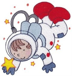 Step Into Space Astronaut embroidery design