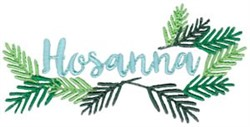 Hosanna embroidery design