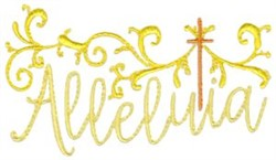 Alleluia embroidery design