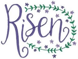 Easter Risen embroidery design