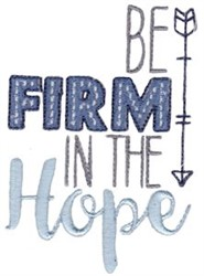 Be Firm In The Hop embroidery design