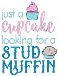 Just A Cupcake embroidery design