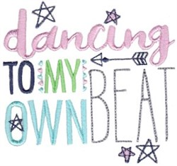Dance To Your Beat embroidery design