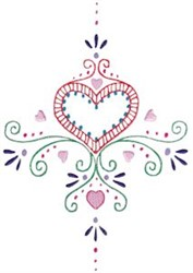 Mehndi Hearts embroidery design