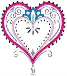 Mehndi Hearts & Flowers embroidery design