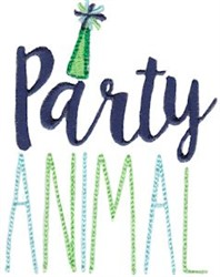 Birthday Party Animal embroidery design