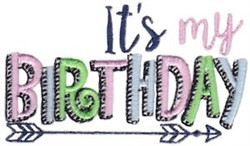 Its My Birthday embroidery design