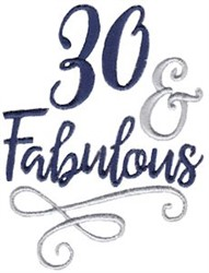 30 & Fabulous embroidery design