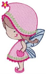 Pink Fairy Girl embroidery design