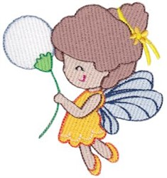 Fairy & Flowers embroidery design