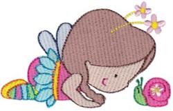 Fairy & Snail embroidery design