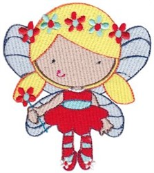 Fairy Girl & Flowers embroidery design