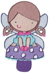 Fairy Girl & Mushroom embroidery design